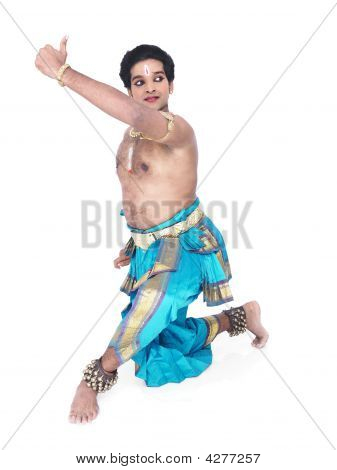 male Bharathanatyam dancer of Tamil nadu in South India poster