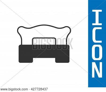 Grey Bedroom Icon Isolated On White Background. Wedding, Love, Marriage Symbol. Bedroom Creative Ico
