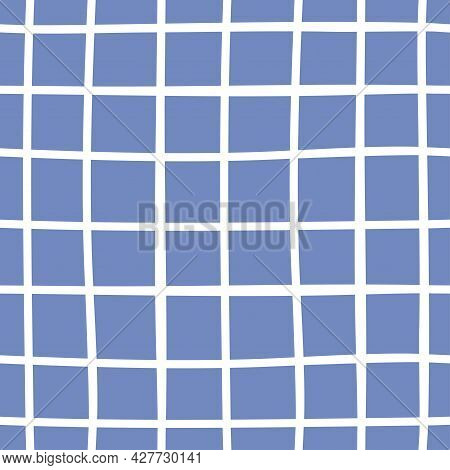 Chequered Blue And White Seamless Vector Pattern