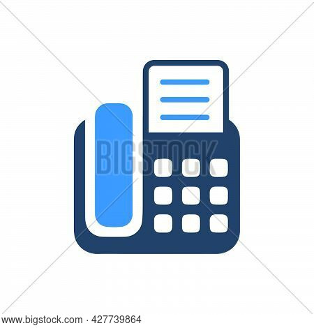 Fax Machine Icon. Meticulously Designed Vector Eps File.