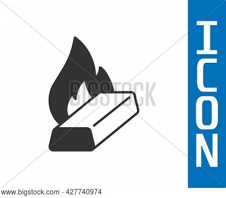 Grey Molten Gold Being Poured Icon Isolated On White Background. Molten Metal Poured From Ladle. Vec