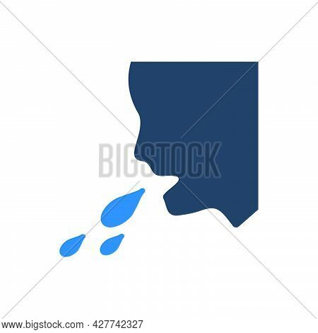 Vomiting Icon. Meticulously Designed Vector Eps File.