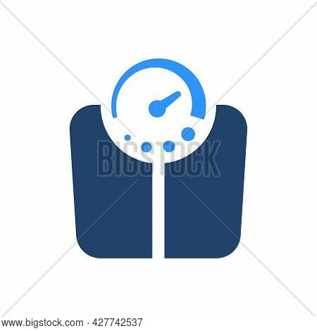Weigh Machine Icon. Meticulously Designed Vector Eps File.