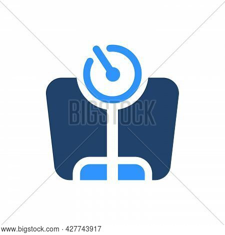 Weighing Scale Icon. Meticulously Designed Vector Eps File.
