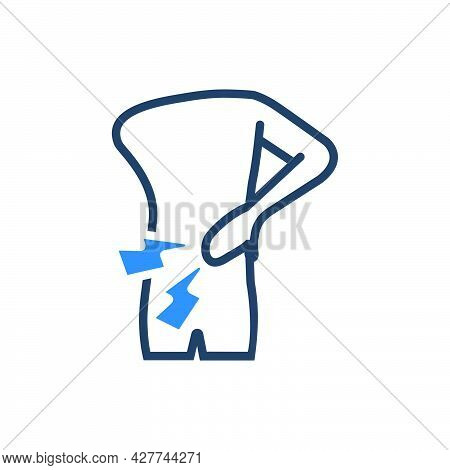 Backache Icon. Meticulously Designed Vector Eps File.