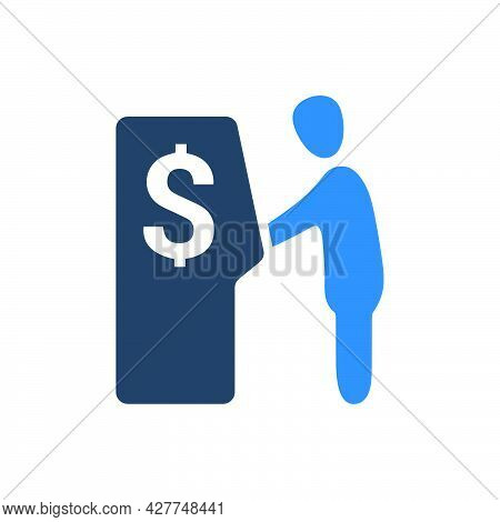 Withdraw Money Icon. Meticulously Designed Vector Eps File.