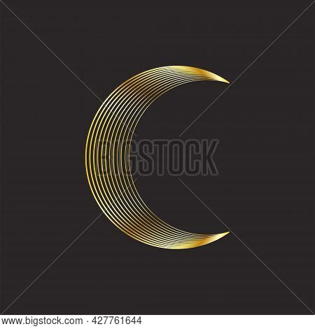 Minimalism, Abstract Composition. Pastel Trendy Shades For Your Design. Phases Of The Moon And The S