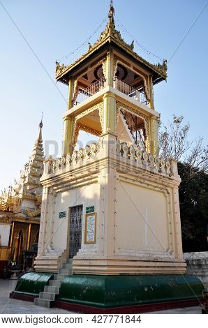 Ancient Building Tower Mahamuni Paya Pagoda Temple For Burmese People And Foreign Travelers Travel V
