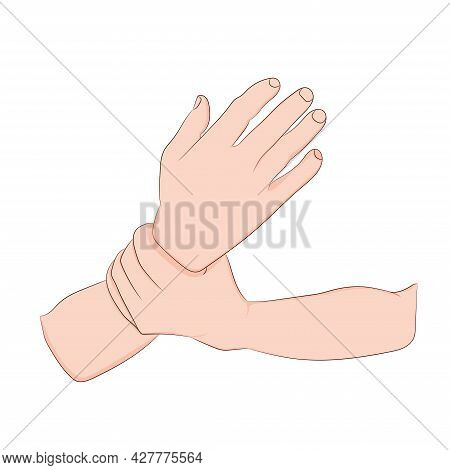 Graphics Drawing Concept Guillain-barre Syndrome Wrist Pain Is Often Caused Or Ascending Para