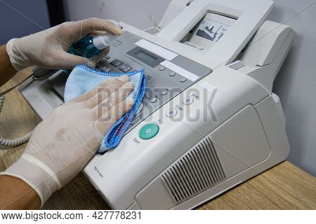 Concept Cleaning Frequently, Focus On Areas That Enable Pathogens To Spread Around The Fax Number Eq