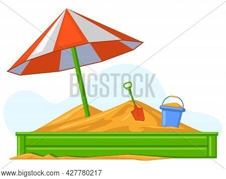 Cartoon Children Summer Outdoor Sandbox Games Equipment. Sand, Bucket And Shovel Kids Entertainment
