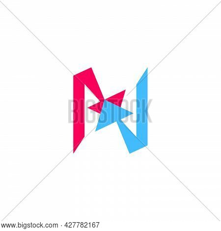 Letter N Colorful Motion Arrow Up Logo Vector