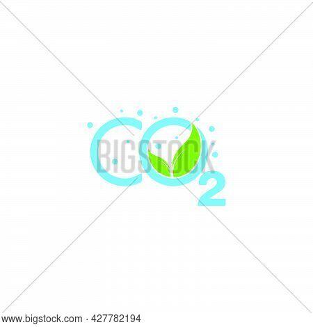 Text Co2 Aqua Scape Blue Water Plant Symbol Logo Vector