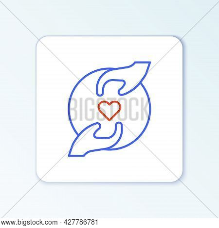 Line Pleasant Relationship Icon Isolated On White Background. Romantic Relationship Or Pleasant Meet