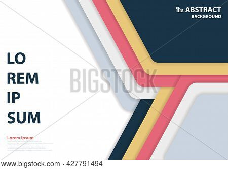 Abstract Modern Design Of Hexagonal Pattern Artwork. Use For Decorative Template Style Background. I