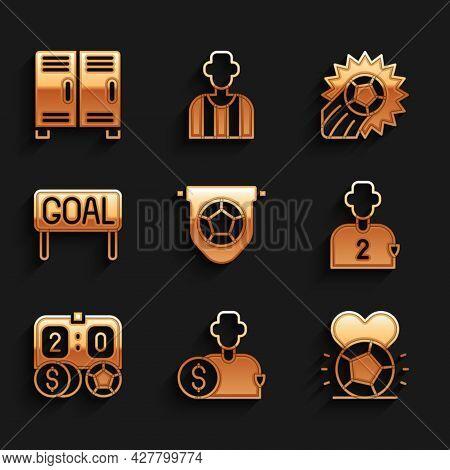 Set Football Flag Pennant, Buy Football Player, Soccer, Or Soccer, Betting Money, Goal, And Locker C