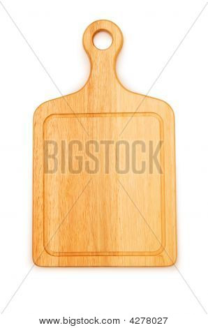 Cutting Board Isolated On The White Background