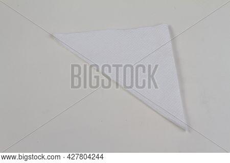 Tissue Paper On White Background. Paper Napkin.