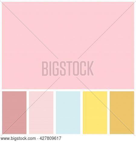 Pink Color Palette Soft Pastel For Template, Simple Pink Color Soft For Design Background