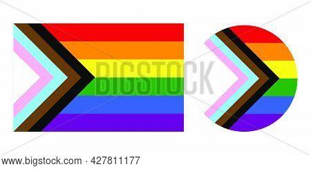Progress Pride Flag New Lgbtq Pride Flag