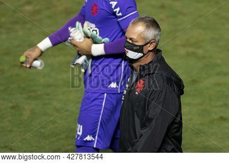 Rio, Brazil - July 24, 2021: Lisca Coach In Match Between Vasco 4 Vs 1 Guarani By 14th Round Of Braz