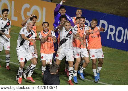 Rio, Brazil - July 24, 2021: Leo Jaba Player Celebrate In Match Between Vasco 4 Vs 1 Guarani By 14th