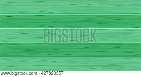 Wood Plank For Background, Green Plank Board Pastel For Background, Wooden Horizontal Plank, Empty W