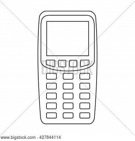 Scanner Vector Icon.outline Vector Icon Isolated On White Background Scanner.