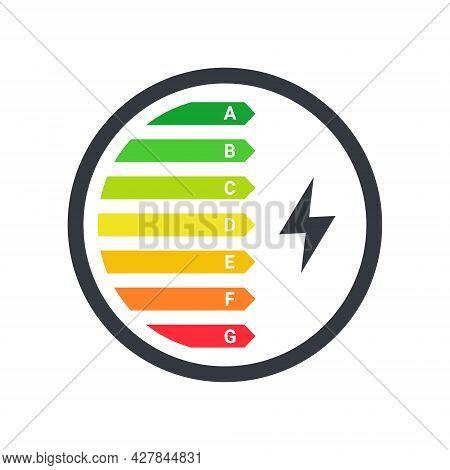 Energy Efficiency Logo. Energy Efficiency Rating Classification Graph. Energy Efficiency Technologie