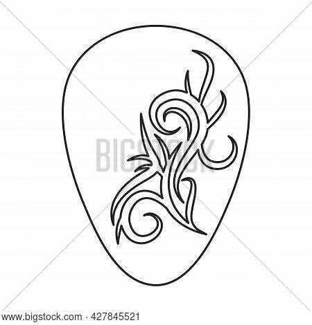 Guitar Pick Vector Icon.outline Vector Icon Isolated On White Background Guitar Pick.