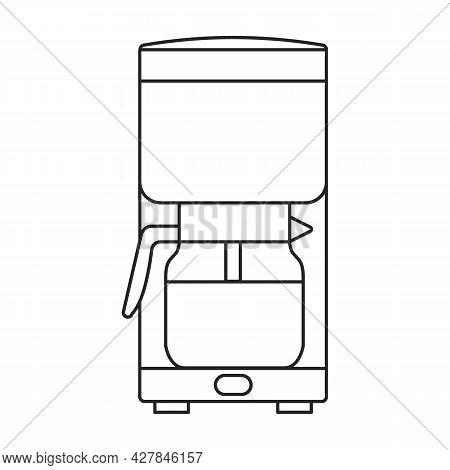 Coffee Maker Vector Icon.outline Vector Icon Isolated On White Background Coffee Maker .