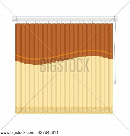 Vector Design Of Blinds And Casement Icon. Graphic Of Blinds And Room Stock Vector Illustration.