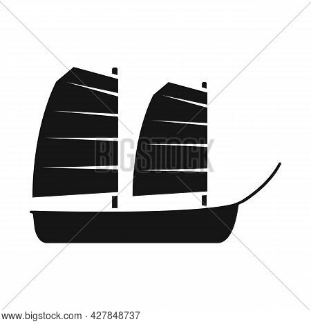 Isolated Object Of Ship And Vietnamese Sign. Set Of Ship And Boat Stock Vector Illustration.
