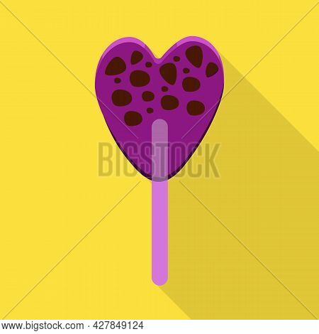Vector Design Of Lollipop And Stick Sign. Web Element Of Lollipop And Heart Vector Icon For Stock.