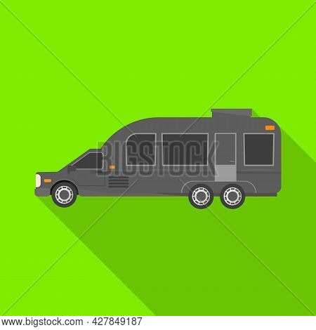 Vector Design Of Auto And Van Symbol. Graphic Of Auto And Hearse Stock Vector Illustration.