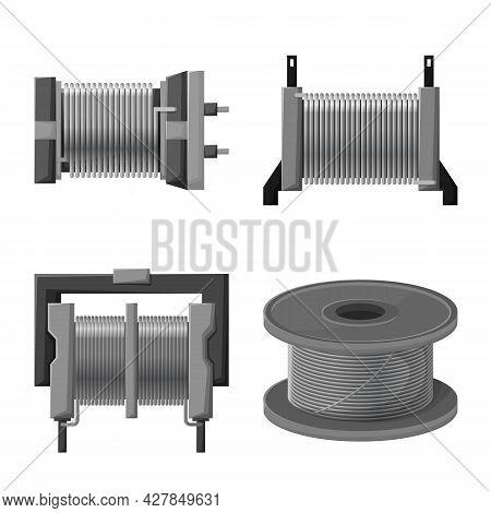 Vector Illustration Of Spiral And Pressure Icon. Set Of Spiral And Compression Stock Vector Illustra