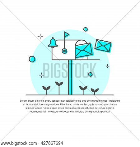 Email Marketing, Newsletter Marketing, Mail Landing Page, Email Automatic Auto Reply Response. Flat