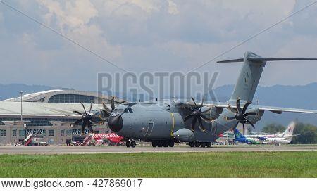 Kota Kinabalu,sabah,malaysia-july 2,2019:royal Malaysian Air Force Airbus A400m-180 M54-04 Military