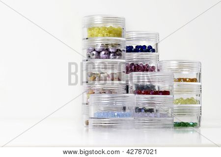 Jewelry Beads In Organized Containers