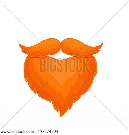 Oktoberfest Beard And Mustache. Mans Costume.symbol Of Beer Festival Oktoberfest. Vector Illustratio