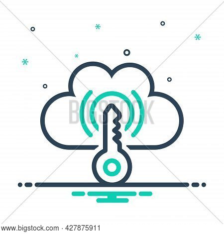 Mix Icon For Cloud-access Cloud Access Cloud-management Data Connection Connectivity Technology Key