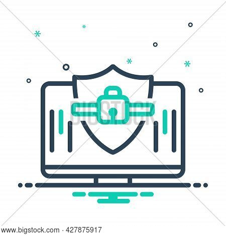 Mix Icon For Computer-security Computer Security Privacy Technology Shield Antivirus Protective Prot