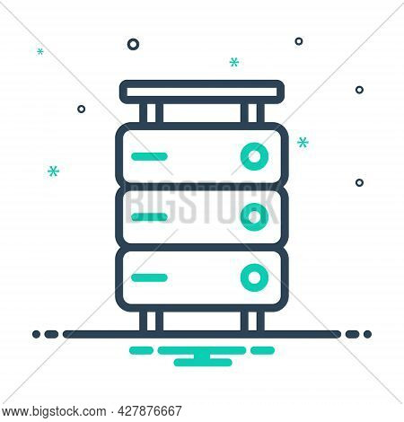 Mix Icon For Storage Database-interconnected Database Interconnected Application Document Server Tec