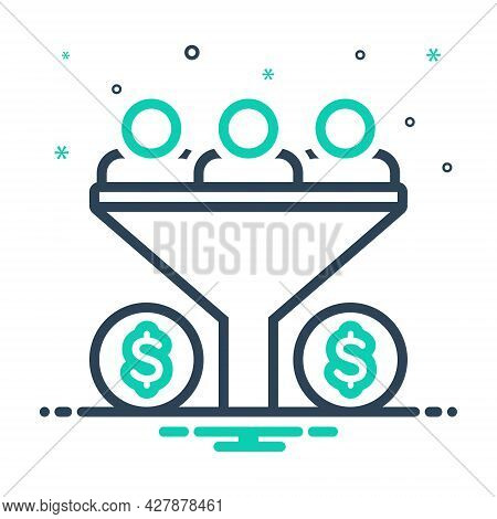 Mix Icon For Sales-funnel Sales Funnel Bussiness Optimization Process Filter Pipe Conversion Benefit