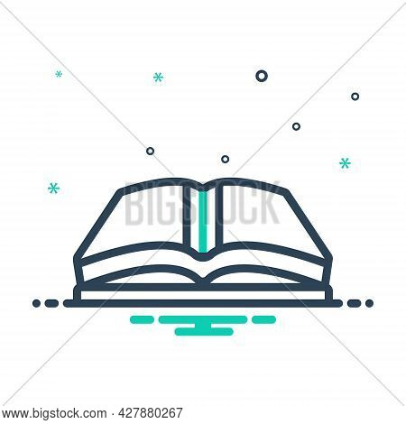 Mix Icon For Open-book Open Book Magazine Library Textbook Publication Encyclopedia Education Study