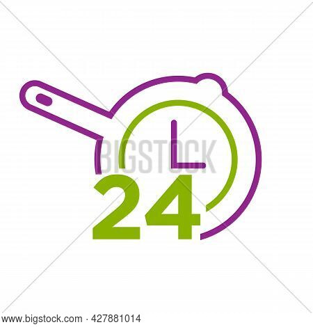 Standby 24/7 Sign Day/night Services Button Symbol. 24 Hour Service Logo Vector Icon.