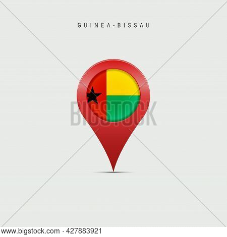 Teardrop Map Marker With Flag Of Guinea-bissau. Republic Of Guinea-bissau Flag Inserted In The Locat