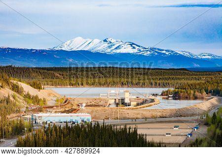 Schwatka Lake Dam Yukon River Hydro-electric Power Plant Small Scale Hydro Station At Whitehorse, Yu