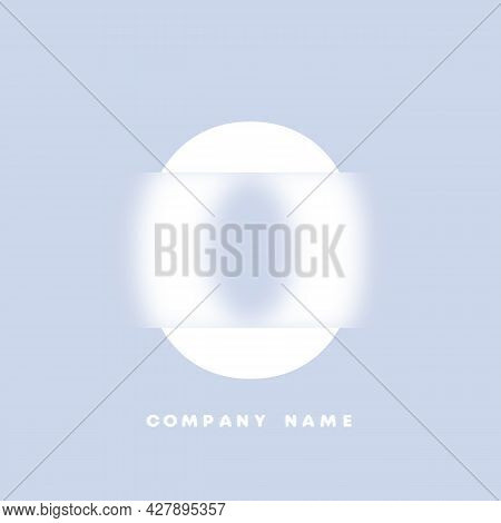 Abstract Art Numbers 0 Logo. Glassmorphism . Blurry Style Font, Typography Design, Alphabet Letters
