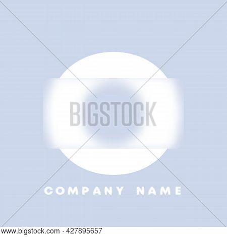 Abstract Art Alphabet Letter O Logo. Glassmorphism . Blurry Style Font, Typography Design, Alphabet